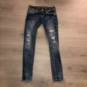 Rock Revival Distressed Jeans 26 Barby Skinny